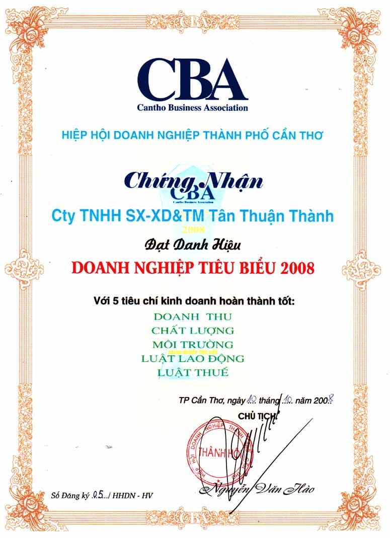 Doanh nghiệp tiêu biểu năm 2008